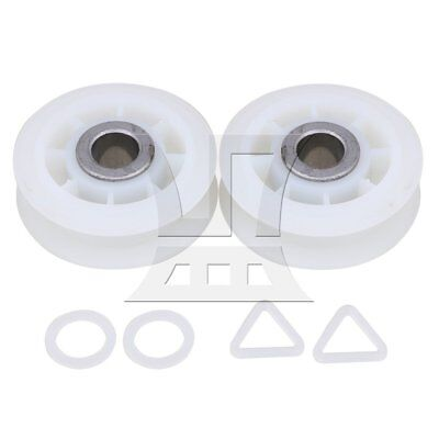5.5cm WP279640 Dryer Idler Pulley Roller for Whirlpool Set of 2 White