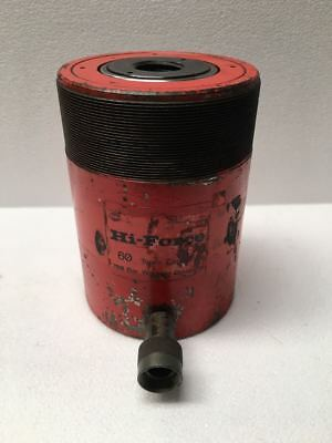 """Hi Force HHS 603 Hydraulic Hollow Cylinder 60 Tons Capacity 3"""" Stroke UU"""