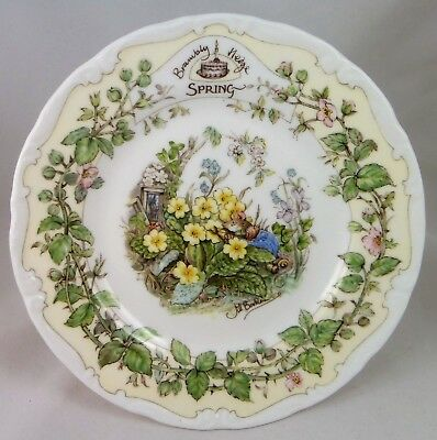 """C1980's Royal Doulton Brambly Hedge """"Spring"""" afternoon tea plate 16cm"""