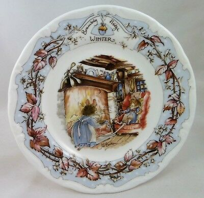 """C1980's Royal Doulton Brambly Hedge """"Winter"""" afternoon tea plate 16cm"""