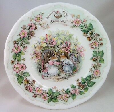 """C1980's Royal Doulton Brambly Hedge """"Summer"""" afternoon tea plate 16cm"""