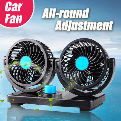 360° All-Round Portable Mini Air Conditioner For Car 12V Plug In Vehicle Fan AU