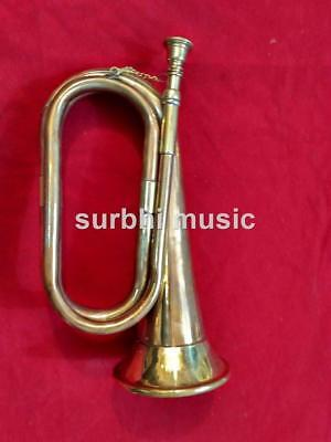 Army Bugle Military Army Bugle Made of Pure Brass With Free Case & Mouth Pc