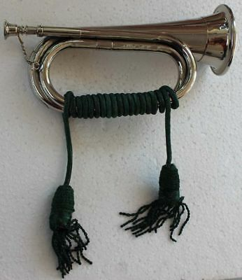 Bugle Brass N/P Parade Good Qlty with Cord Rope Tassel Chopra Brand