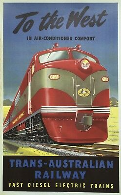 Genuine Victorian Railways VR A3 Poster Rare High Resolution