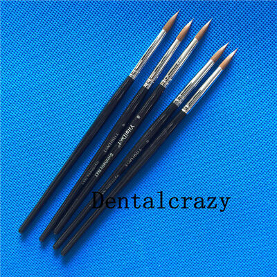 5pcs  Dental Porcelain Brush Pen Dental Lab Equipment 8#