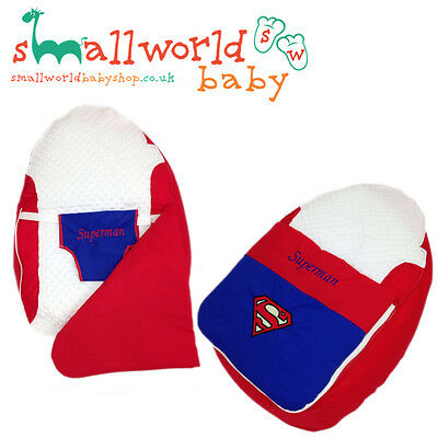 Personalised Superman Baby Bean Bag Sleep Pod (NEXT DAY DISPATCH)