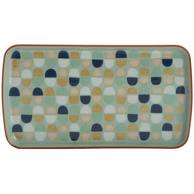 NEW Denby Heritage Pavilion Accent Small Rectangular Platter