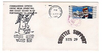 Shuttle 29 USCGC Bear Rescue Support Souvenir Envelope #2