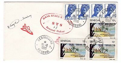 Shuttle 38 NASA Senegal Tracking & Support SIGNED Souvenir Envelope