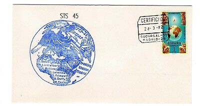 Shuttle 45 Madrid Spain Tracking & Support Souvenir Envelope #1