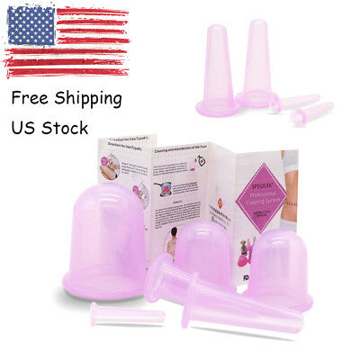 2019 SPEQUIX Medical Silicone Vacuum Massage Cupping Therapy Cups Face&Body Kit