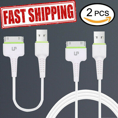 Data Charging Charger Power Cable Cord for Apple iPhone 4 4S 3GS(2 pieces)
