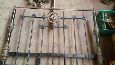 Antique victorian brass bed up cycle project