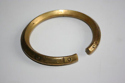 Antique/Old Bronze Brass Carved Bangle Bracelet