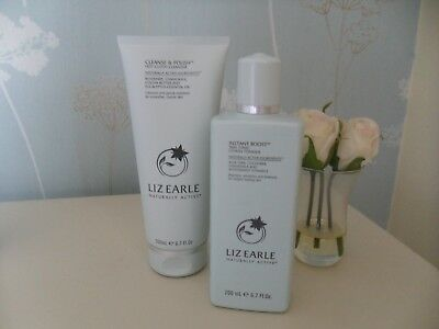 Liz Earle Cleanse & Polish & Instant Boost Skin Tonic 200Ml Each New Free Pp