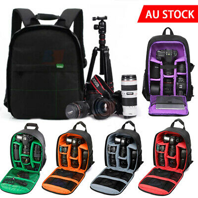 Camera DSLR Bag Backpack SLR Shoulder Soft Case Waterproof for Canon Nikon Sony