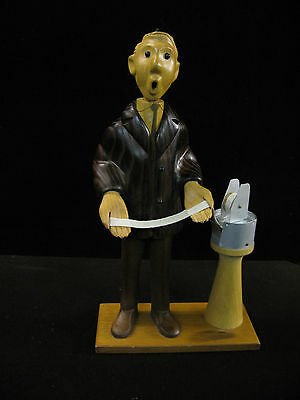 Romer - The Stock Broker - Vintage Wood Carved Figure Italy