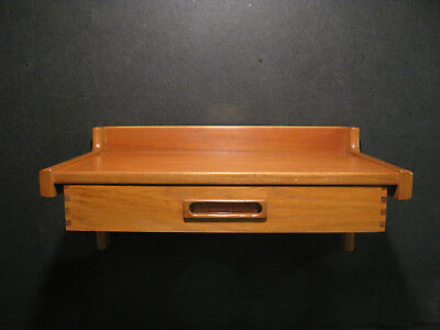 Teak Floating Foyer Entry Shelf/table