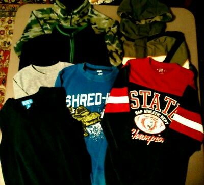Huge lot boys fall winter clothes 7/8 camouflage fleece,coat TCP, Gymboree,Gap