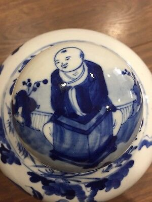 Rare Chinese Blue And White Porcelain Jar. Late 19 century.