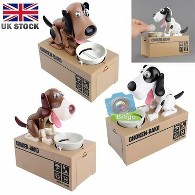 Creative Doggy Style Stealing Coins Box Piggy Bank Storage Money Kids X'mas Gift