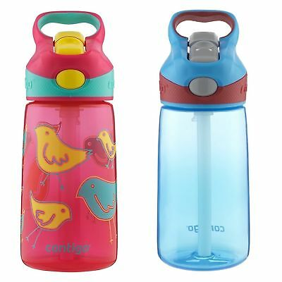 Contigo AUTOSPOUT Striker Kids Straw Water Bottle 14oz Set Bird & Electric Blue