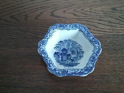 Antique George Jones & Sons Abbey pattern 6 sided small dish