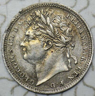 1829 Maundy Penny - George Iv British Silver Coin - V Nice