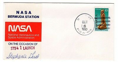 Shuttle 41 NASA Bermuda Tracking & Support SIGNED Souvenir Envelope