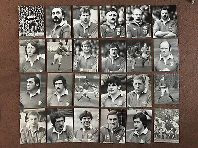 82 original Wales Rugby Union Press Photos 1977-85 incl JPR Williams Bennett +++