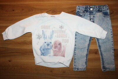 NEXT River Island girls BUNNY jumper jeans18-24 months *I'll combine postage