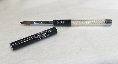 size 10 cjp  acrylic nail  brush with lid Kolinsky Sable hair, pointed tip oval