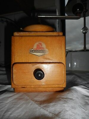 Vintage wooden coffee grinder by Zassenhaus, in working order
