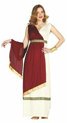 Womens Ladies Roman Goddess Greek Grecian Toga Athena Fancy Dress Costume Outfit