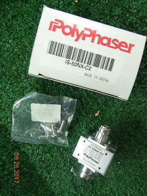 Polyphaser IS-50NX-C2 Flange Mount Surge Protector Arrestor - factory sealed BS