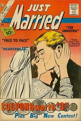 Just Married 19 + Free Foil Balloon Charlton Comic