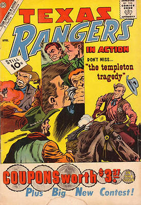 Texas Rangers In Action 27 + Free Foil Balloon Charlton Comic