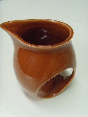 Good Condition Pale Brown, Holkham Pottery, Owl Eye, Jug
