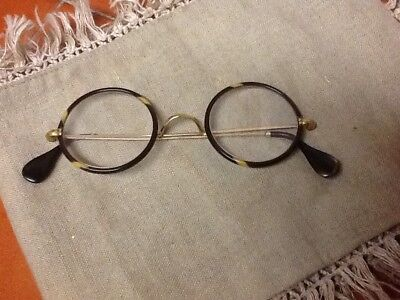 Antique 1930s tortoiseshell type round spectacles glasses. 1.10