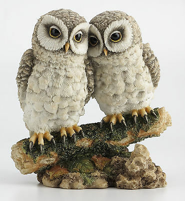 NEW Owl Lovers on Branch Statue Sculpture Collectible Figurine - GIFT BOXED