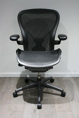 UK Delivery | Herman Miller Aeron Chair | Fully Loaded | PostureFit | Size C