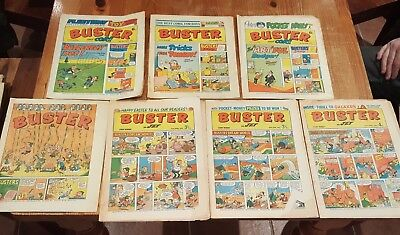 Lot of 7 Buster comics from 1973 - 75