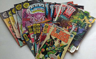2000AD Judge Dredd Nemesis the Warlock assorted comics