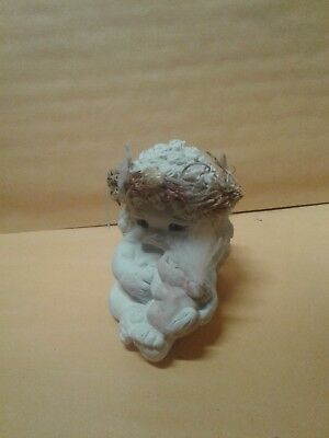 "Dreamsicle Angel Figurine  "" Bunny And Me ""   1991 Dc055"