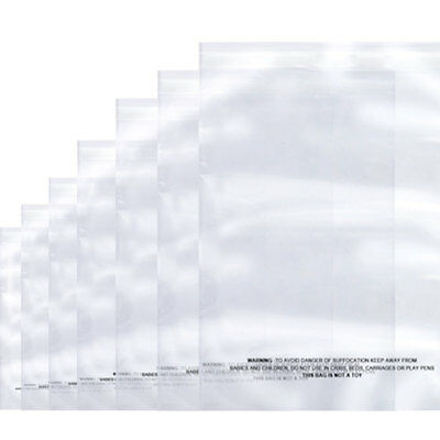 100xClear Resealable Reclosable Self Adhesive Cello Lip & Tape poly Plastic bags