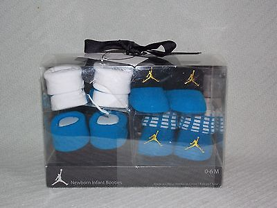 New with Tag 4 Pair Nike Air Jordan 0-6 Month Newborn Infant Booties