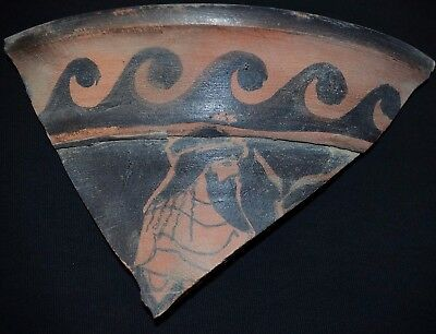 Ancient Greek Painted Ceramics. LARGE Fragment of Hydria / Krater, c 350-250 Bc
