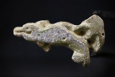 Ancient Greek Carved Stone Amulet depicting Dolphin, circa 250-150 BC. Rare