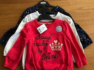 Baby Girl Set Of Long Sleeve Tops BNWT 9-12 Months